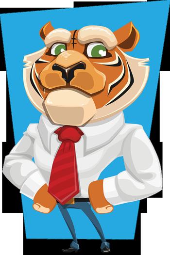 Löwe-mit-Krawatte