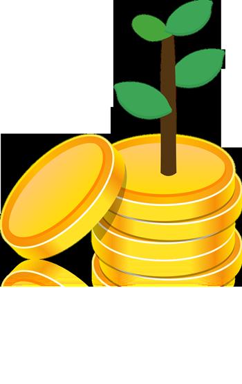 Münzen_Pflanze-wächst-heraus